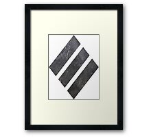 Heavy tank symbol in WOT Framed Print