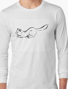 Figure cats black lines  Long Sleeve T-Shirt