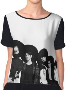 SHINee Everybody Black White Kpop Chiffon Top
