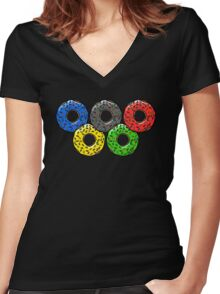 Olympic Donuts - Unofficial Non Competitors Uniform 2016 Women's Fitted V-Neck T-Shirt