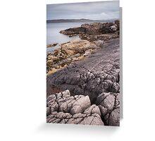 Loch Ewe coastline Greeting Card