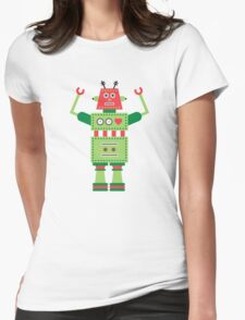 a humanoid 5 Womens Fitted T-Shirt
