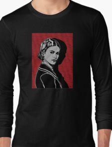 Frida Kahlo Portrait 1920s Long Sleeve T-Shirt