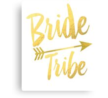 Bride Tribe Gold Foil Wedding Bachelorette Party Hens Night Favors Gifts Tribal Arrow Canvas Print