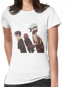 Kakashi, Rin, Obito Womens Fitted T-Shirt