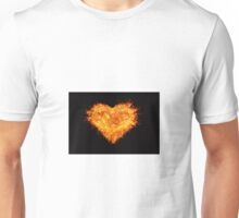 Burning heart Unisex T-Shirt