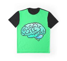 Pixel Art Brain 8-Bit Graphic T-Shirt