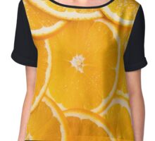 slices of oranges Chiffon Top
