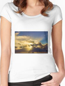 Sunrise in Paradise 3 Women's Fitted Scoop T-Shirt
