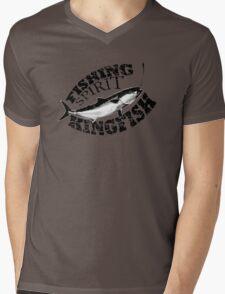 Fishing Spirit - Kingfish - Black Mens V-Neck T-Shirt