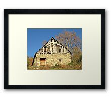 Barn in the countryside Framed Print