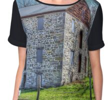 Old Stone Structure Chiffon Top
