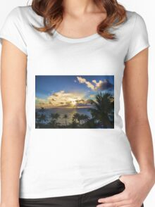 Sunrise in Paradise 4 Women's Fitted Scoop T-Shirt