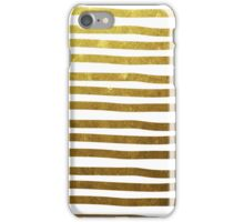 Gold stripes iPhone Case/Skin