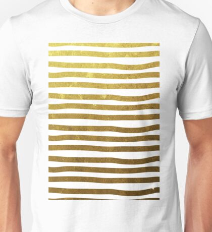 Gold stripes Unisex T-Shirt