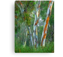 Painted Trees Canvas Print
