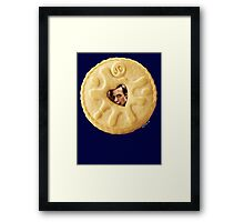 Doctor Who - Matt Smith 11th Doctor Trapped in a Jammie Dodger Framed Print
