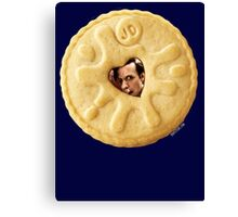 Doctor Who - Matt Smith 11th Doctor Trapped in a Jammie Dodger Canvas Print