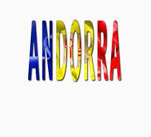 Andorra Word With Flag Texture Classic T-Shirt