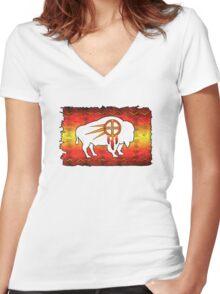 Tatanka Ska  Women's Fitted V-Neck T-Shirt
