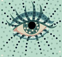 Dots And Beautiful Eye by Boriana Giormova