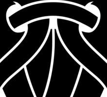 Odin's Mask Tribal (black) Sticker