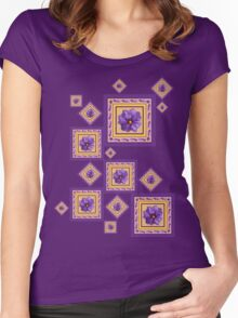 Purple Wildflower Women's Fitted Scoop T-Shirt