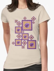 Purple Wildflower Womens Fitted T-Shirt
