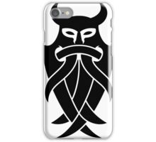 Odin's Mask Tribal (black) iPhone Case/Skin