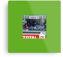 51 LeMans_Porsche Pit 81 Metal Print