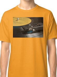 Vinyl record playing on a turntable Classic T-Shirt