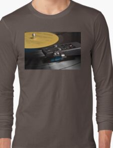 Vinyl record playing on a turntable Long Sleeve T-Shirt