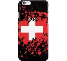 Switzerland Flag Ink Splatter iPhone Case/Skin
