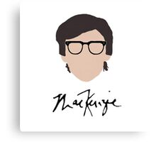 MacKenzie Bourg Glasses & Signature Canvas Print