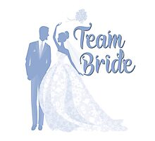 Team Bride Serenity Blue Pantone Wedding Color Bachelorette Party Bridal Groom Photographic Print