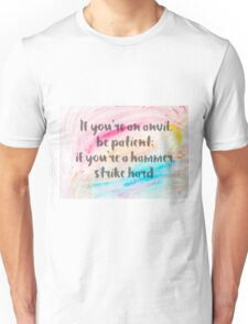 Inspirational quote over water color background Unisex T-Shirt