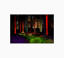 fairy tale mystical forest at night light painting Unisex T-Shirt