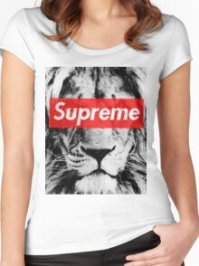 Supreme lion Women's Fitted Scoop T-Shirt