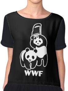 WWF Chair Funny Chiffon Top