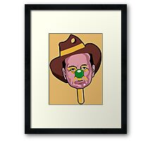 BUBBLE O'BILL MURRAY Framed Print