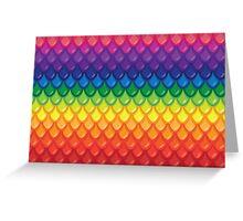 Dragon Scales V2 (rainbow) Greeting Card