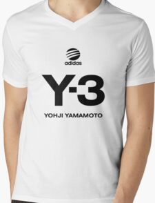 Yohji Yamamoto Y-3 Mens V-Neck T-Shirt