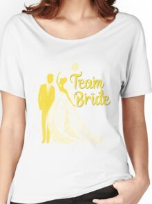 Team Bride Buttercup Yellow Pantone Wedding Color Bachelorette Party Bridal Groom Women's Relaxed Fit T-Shirt