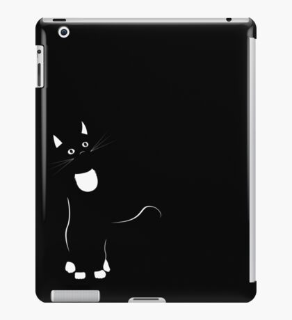 Curious Cat - Black and White iPad Case/Skin