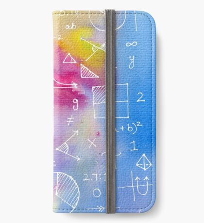 Math formulae (watercolor background) iPhone Wallet