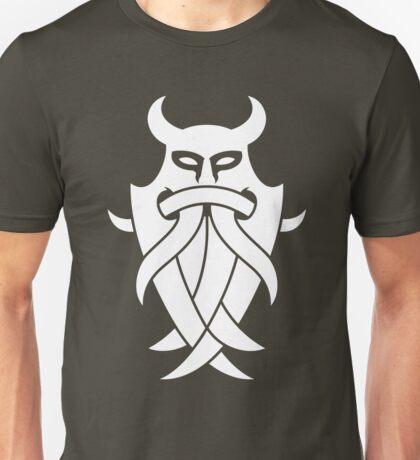 Odin's Mask Tribal (white) Unisex T-Shirt