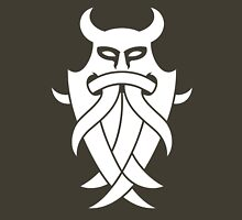 Odin's Mask Tribal (white) Unisex T-Shirt