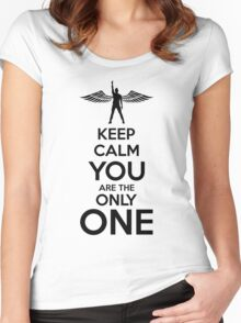 SL Keep Calm Y Women's Fitted Scoop T-Shirt