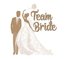 Team Bride Iced Coffee Mocha Brown  Pantone Wedding Color Bachelorette Party Bridal Groom Photographic Print
