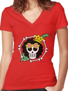 brook one piece Women's Fitted V-Neck T-Shirt